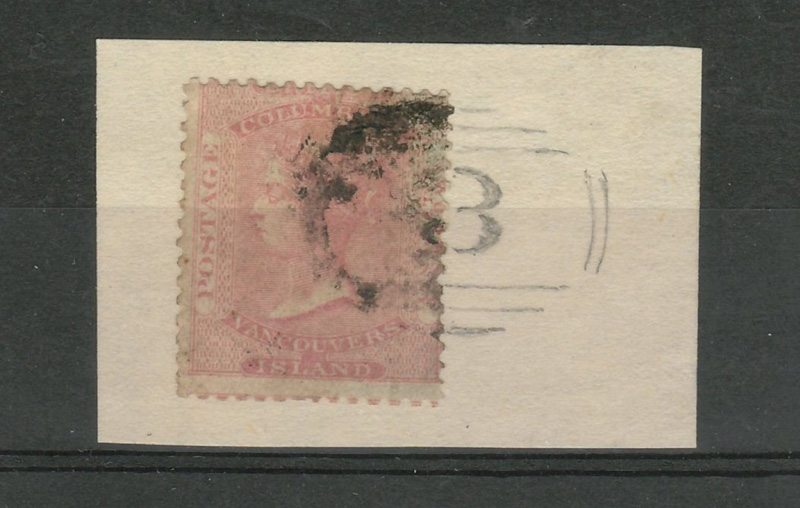 B.C. #2 VG Used Hope numeral 3 RF 9 1860 2.5d Very Rare