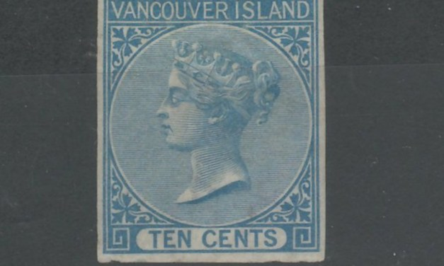 B.C. #4 VF Mint large part O.G. 1865 10c Blue Imperf w/ cert
