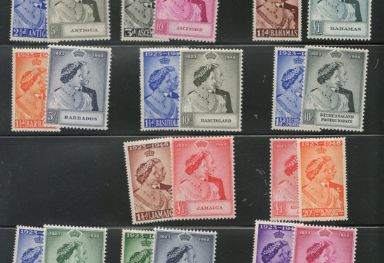 British Empire 1948/1949 Mint A/N Silver Wedding Sets (34)