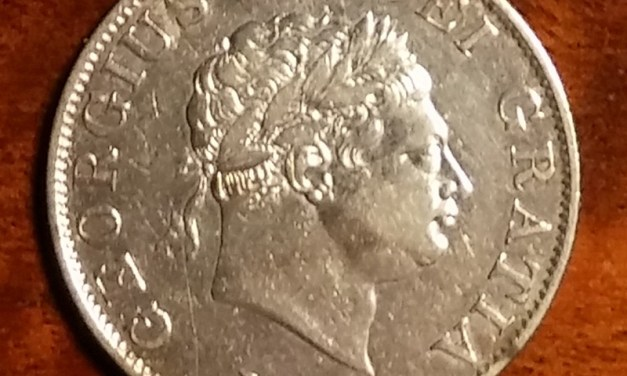 Lot 188 G.B./Colonial Cda VF 1818 George III Silver Half Crown date doubling