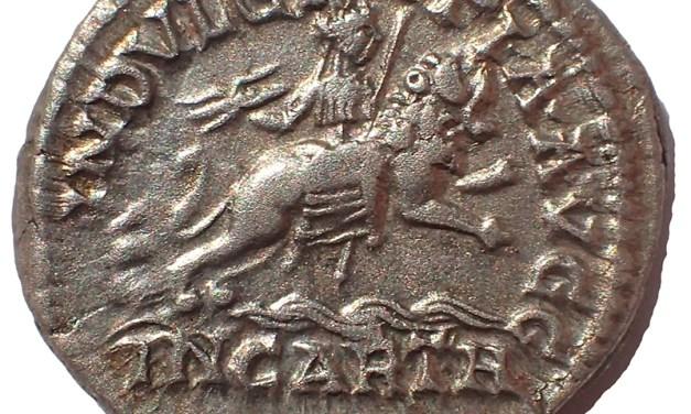 Caracalla 198-217AD, Dea Caelestis Silver Denarius