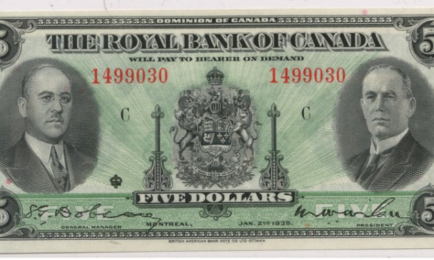 Royal Bank of Canada Unc 1935 $5 SN 1499030
