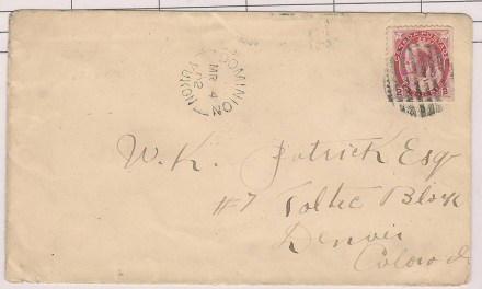 Dominion, Yukon #77bs 4 Mr 1902 2c Cover to Denver, ex Steinhart