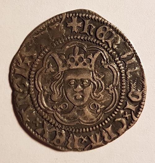 Henry VI 1422-1427 Calais Mint Silver Half Groat
