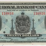 Royal Bank of Canada AU 1935 Large Signatures $20 Banknote