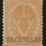 B.C. #16 Fine Mint HR O.G. 1869 25c on 3d Orange