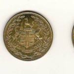 Hudson's Bay Company XF/Unc 1854 1/8 to 1/2 Made Beaver token trio