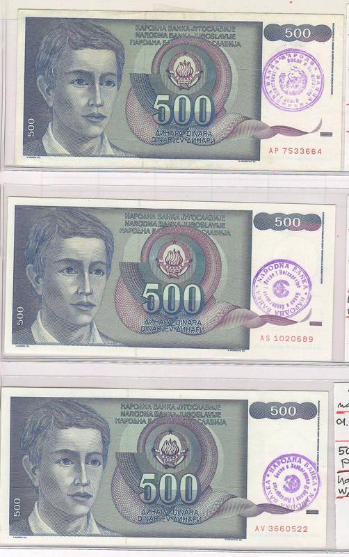 Bosnia & Herzegovina bank notes front