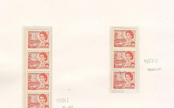 Canada #468AiiVFNH1969 6c Hibrite Imperf Strip, Greene Cert.