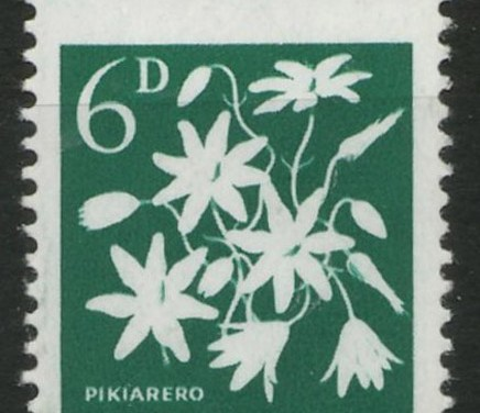 N.Z. #340b Never Hinged 1960/66 Missing Colour Misperf