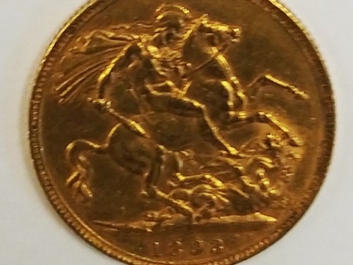 1897 Victoria Gold Sovereign .2355oz AGW