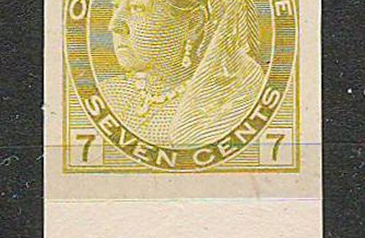 Canada #81P 1902 7c QV Numeral Plate Proof
