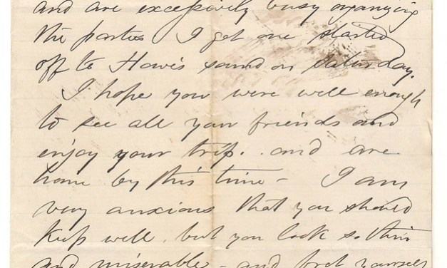 Victoria, B.C. 26 Jn 1873 Marcus Smith letter to his wife  mentions 'Howe Sound'
