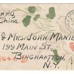 U.S.A./China 1917 3c illustrated 3c Shanghai/Binghamton, N.Y.