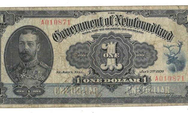 Newfoundland #NF12d 1920 $1 Banknote