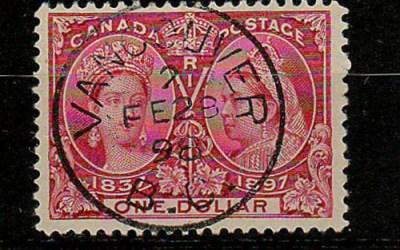 Canada #61 28 Feb 1898 Vancouver CDS $1 Jubilee