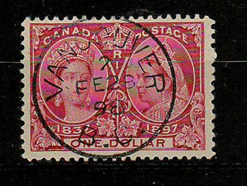 Canada #61 28 Feb 1898 Vancouver CDS $1 Jubilee