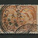 Canada #63 Fine Toronto CDS 1897 $3 Jubilee