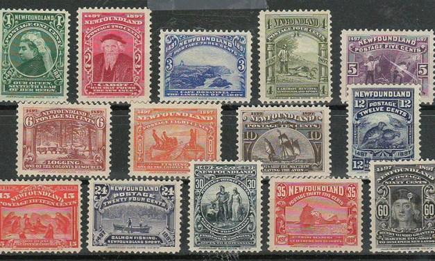 Newfoundland #61-74 1897 Discovery Set (14)