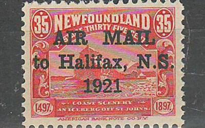 Newfoundland #C3 1921 35c Halifax Airmail