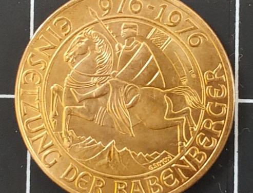Austria 1976 Millennium Gold 1000 Schilling .3906oz AGW