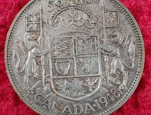 Canada 1948 George VI Silver 50 Cents