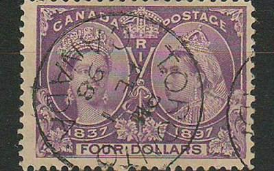 Canada #64 Toronto 1 Feb 1898 CDS $4 Jubilee $800.