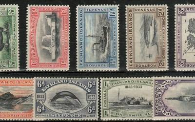Falkland Islands #65-73 1933 values (9 diff)