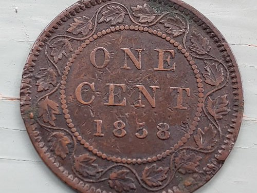 Province of Canada VF 1858 Victoria Large Cent