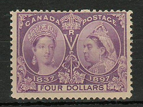 Canada #64 Fine Mint 1897 $4 Jubilee