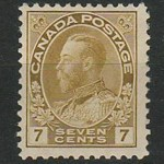 Canada #113b Fine Never Hinged 7c Straw Admiral