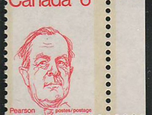 Canada #591 1973 6c Pearson Dramatic Misperf