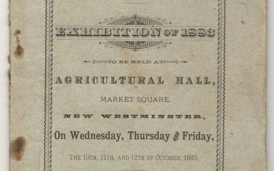 New West, B.C. Sept 1883 60-pg Agricultural Program, ex Brighouse