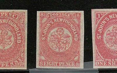 Newfoundland #21-23 1861/62 Pence trio