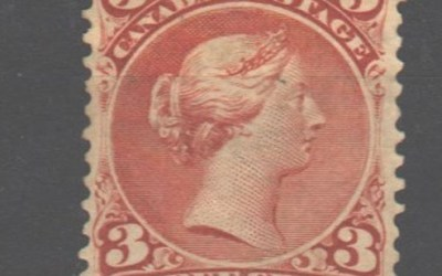 Canada #25 Fine Unused 1868 3c Large Queen