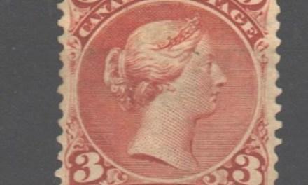 Canada #25 Fine Unused 1868 3c Large Queen