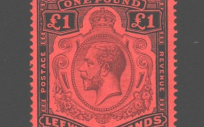 Leeward Islands #83 F/VF Mint 1928 George V Pound
