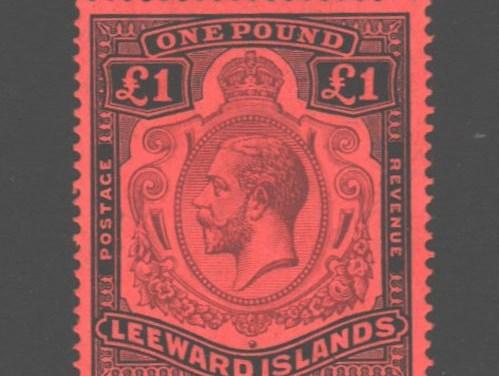 Leeward Islands #83 F/VF Mint 1928 George V Pound
