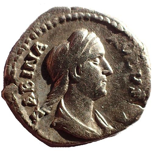 Sabina Augusta 128-137 Silver Denarius w/ Venus
