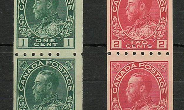 Canada #123-124 1913 Admiral Coil Pair duo