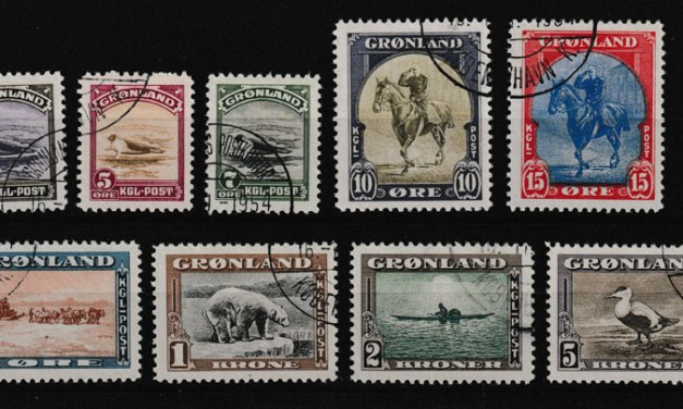 Greenland #10-18 VF Used 1945 American Set (9)