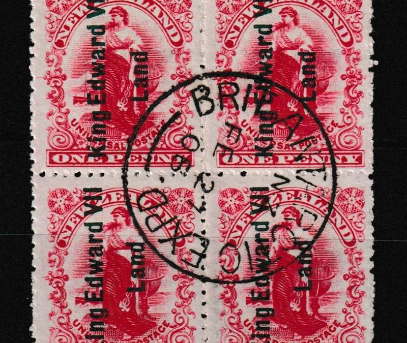 N.Z./King Edward VII Land #121A 27 Fe 1908 B.A.E. CDS Used Blk (4)