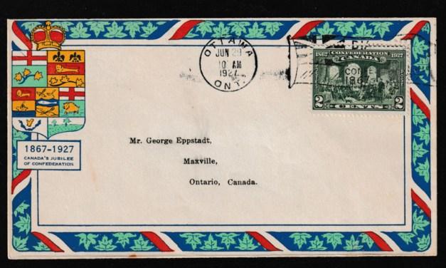 Canada #142 29 Jn 1927 2c Confederation Ottawa Flag Eppstadt FDC