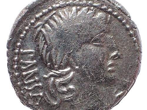 C. Vicius C.f. Pansa 90 BC 20mm 3.8gm Silver Denarius w/ Apollo etc