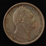 G.B./Colonial Canada AU/XF+ 1836 William IV Silver Half Crown +
