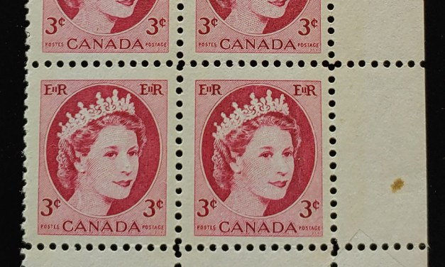 Canada #339 Never Hinged Dramatic Pre-printing Foldover error Pl Blk