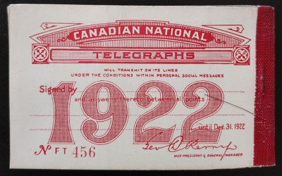 Canadian National #TCN2 Mint 6 pane Booklet dist gum