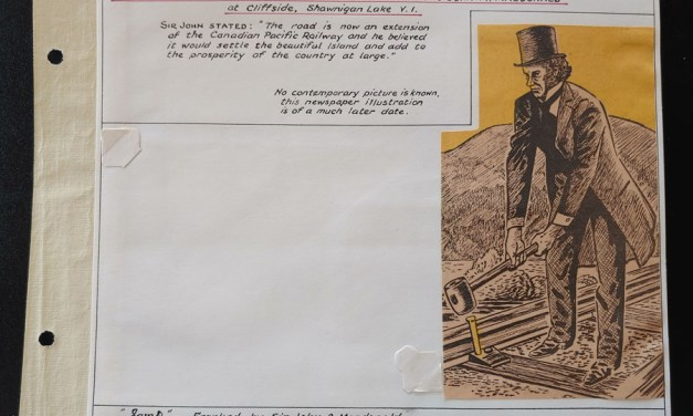 John A. Macdonald free franked 1889 Cover on Last Spike page