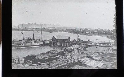 Waterfront Best Vancouver in 1886/1888 3.5″ Glass Lantern Slide