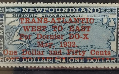 Newfoundland #C12 F/VF Mint HR 1932 $1.50 on $1 Airmail